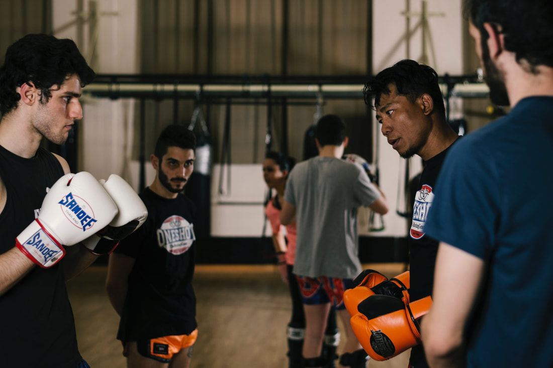 muay-thai training Pavia